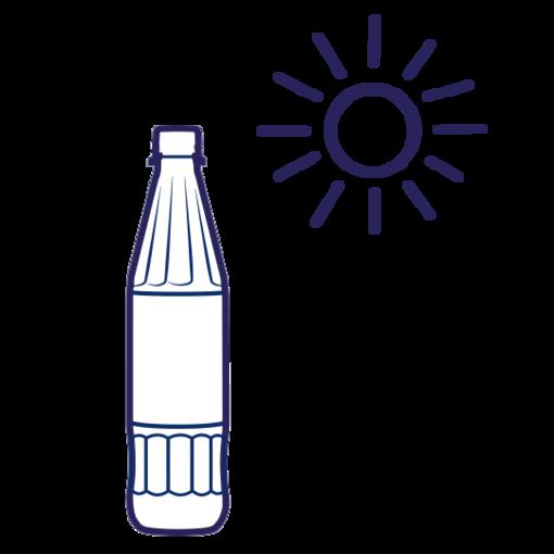 Zimmertemperatur ist die optimale Temperatur für Mineralwasser.